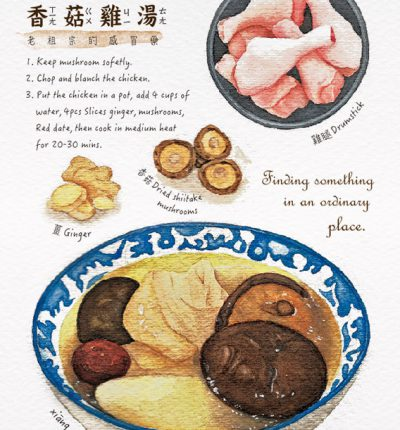 Mushrooms Chicken Soup Postcard