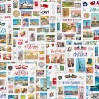World Travel Set Postcards