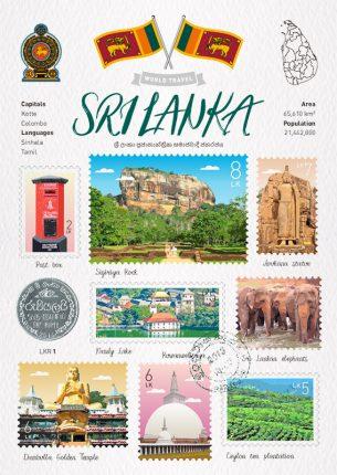 World Travel Sri Lanka Postcard