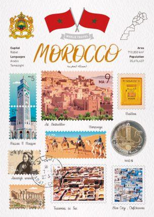 World Travel Morocco Postcard
