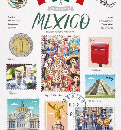World Travel Mexico Postcard