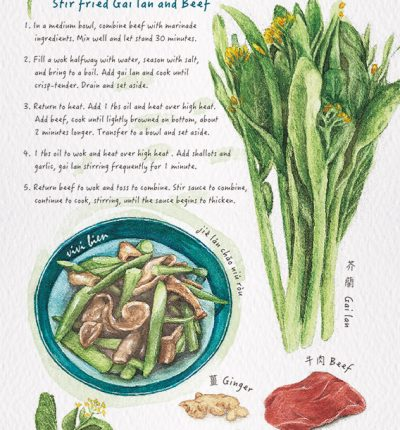 Stir fried Gai lan and Beef