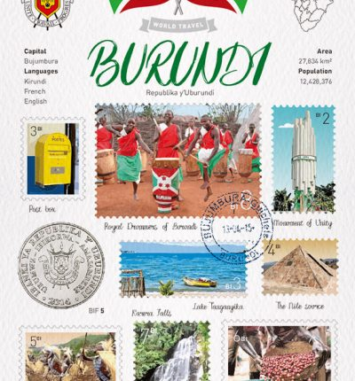 World Travel Burundi Postcard