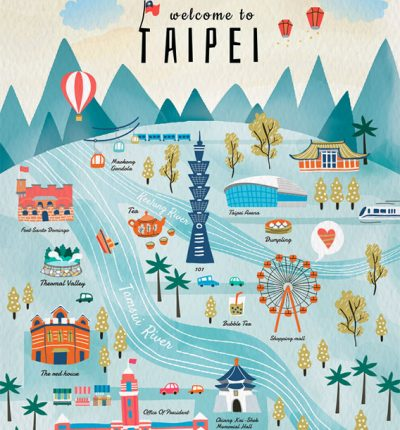Taipei Travel Postcard