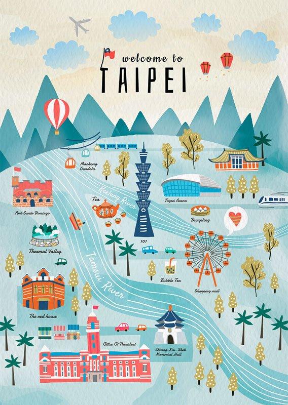 Taipei Travel Postcard