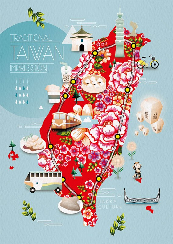 Taiwan Map Hakka