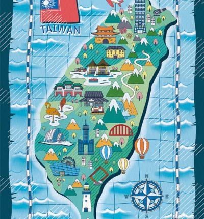 Taiwan Map sea chart