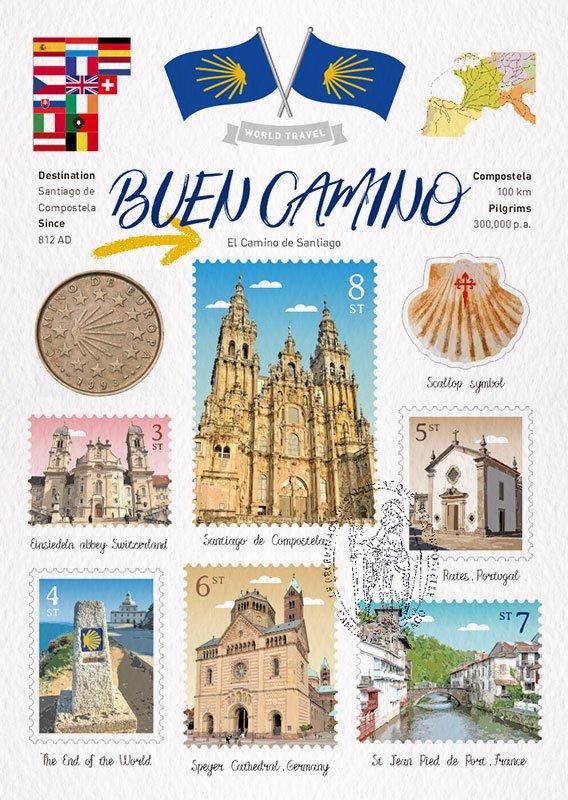 Camino de Santiago Postcard